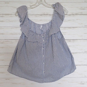Live 4 Truth Off the Shoulder Striped Ruffled Top